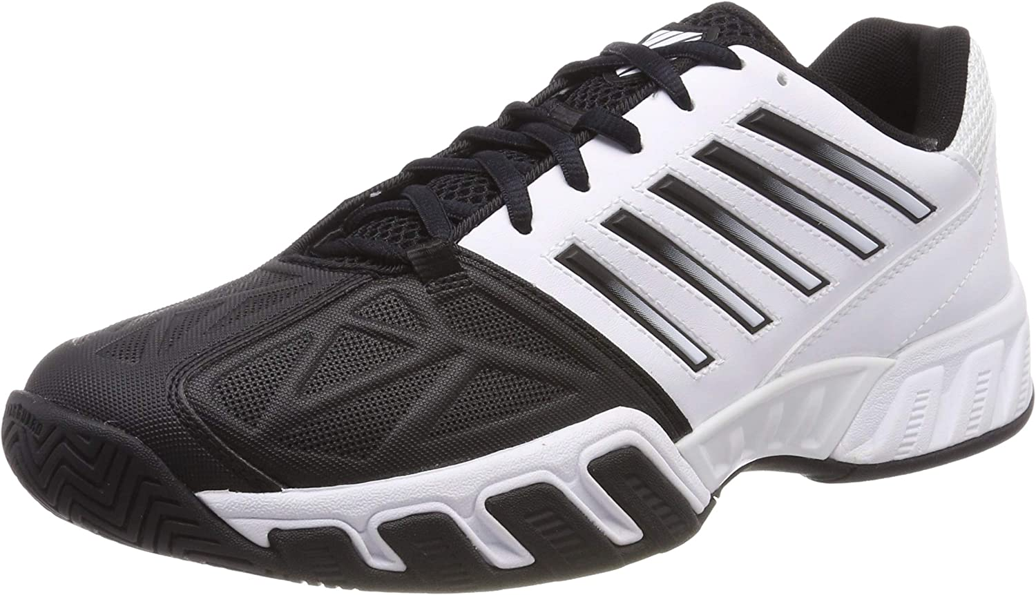 K-Swiss Performance Bigshot Light 3, Zapatillas de Tenis para Hombre, Blanco (White/Black 129M), 44 EU