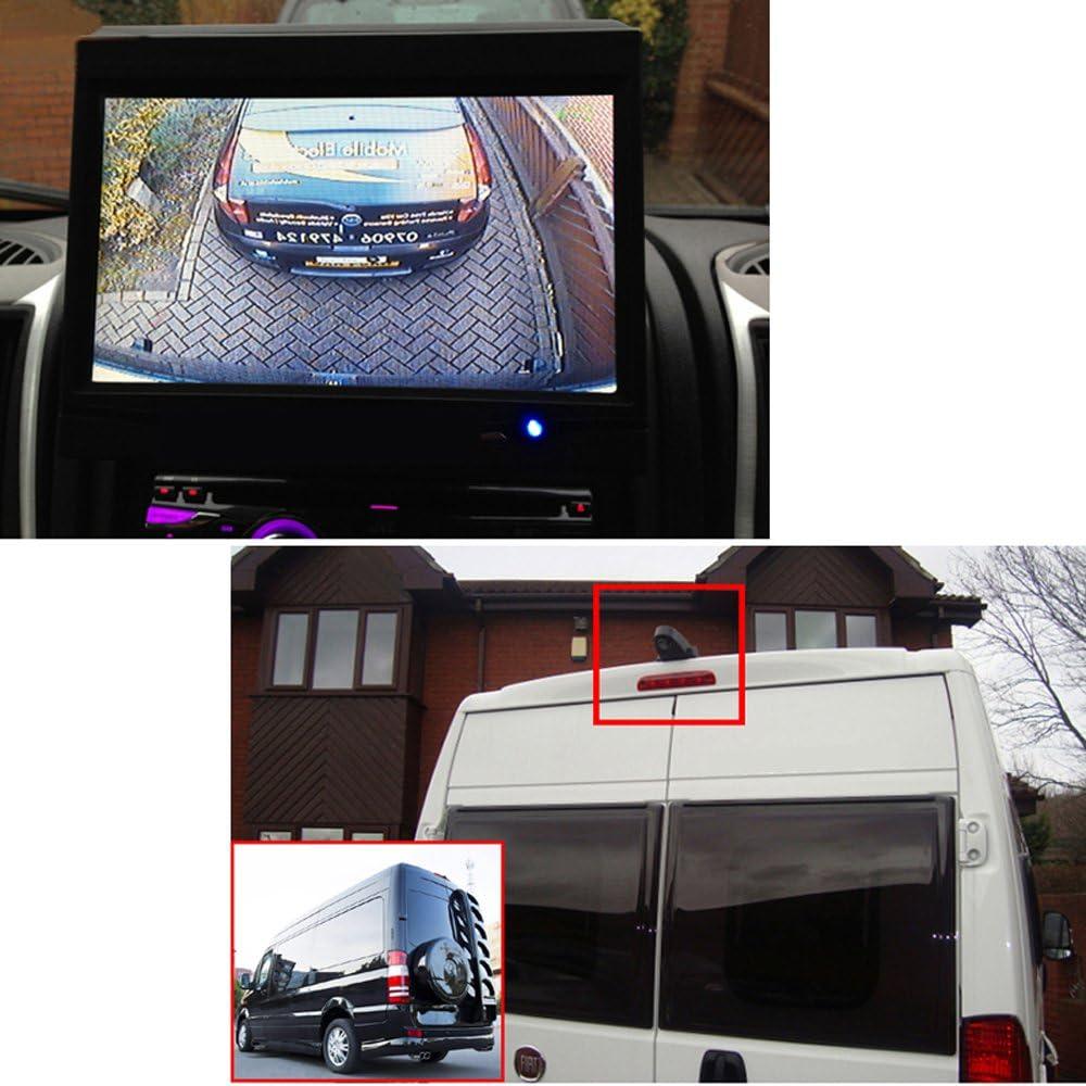 Cam/éra de Recul Arri/ère Vue avec Vision Nocturne Syst/ème dinversion /Étanche LCD Moniteur de Voiture pour Mercedes VW Crafter T5 Citroen Dacia Fiat Ford Hyundai Isuzu Iveco Mitsubishi Nissan Opel