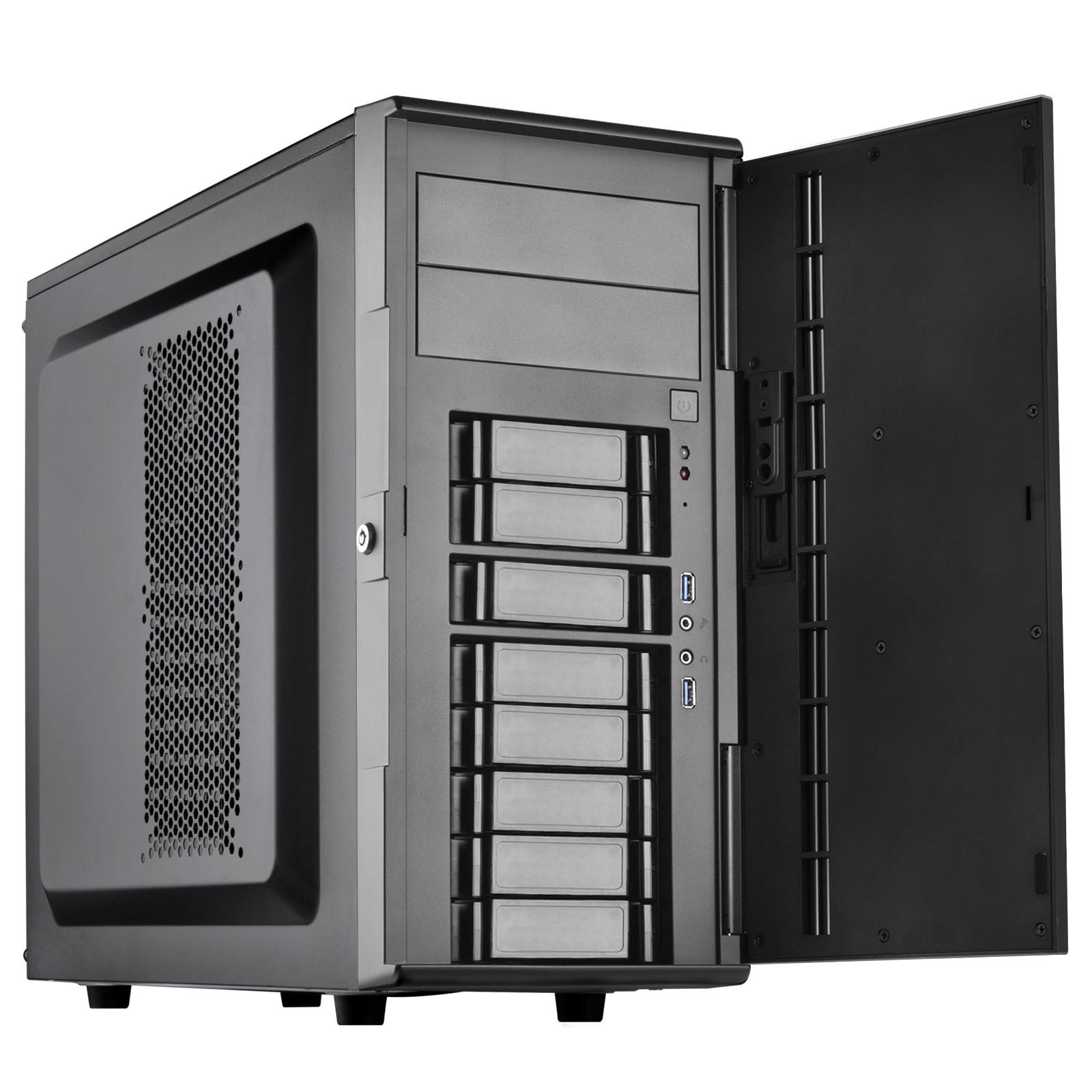Silverstone Technology CS380B Silverstone DIY ATX NAS Storage Case with Hot Swap Cases