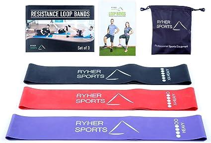 Tissu bandes de résistance pour jambes et fessiersLot de 3 résistance niveau Jambe B....