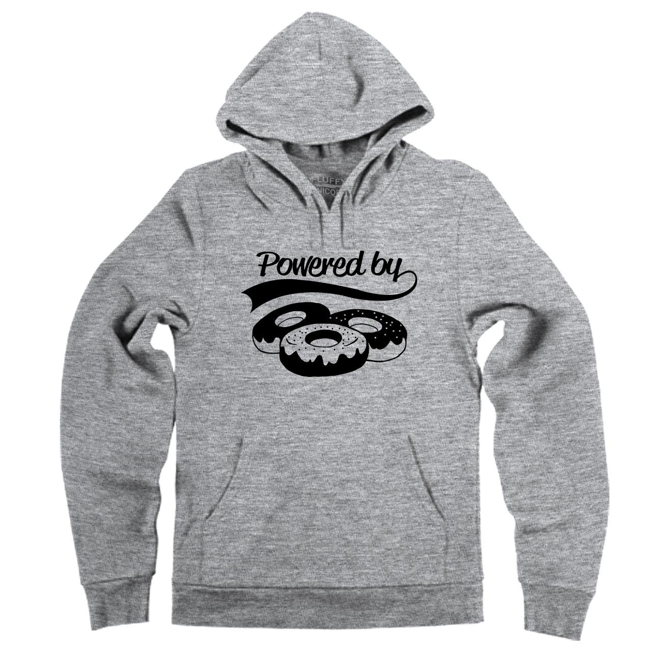 Comical Shirt Mens Powered by Donuts Hoodie