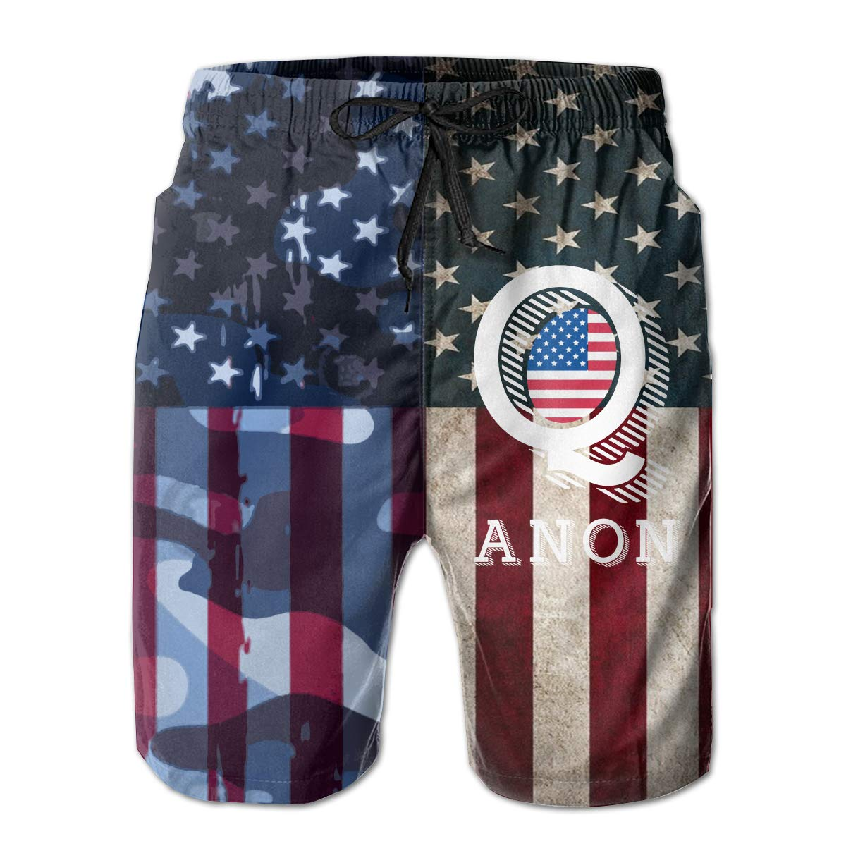 CCNXFGOK Qanon Boardshorts Mens Swimtrunks Fashion Beach Shorts Casual Shorts Swim Trunks