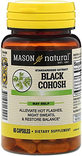 Mason Mason Natural Black Cohosh Hot Flash Relief, 60 Capsules