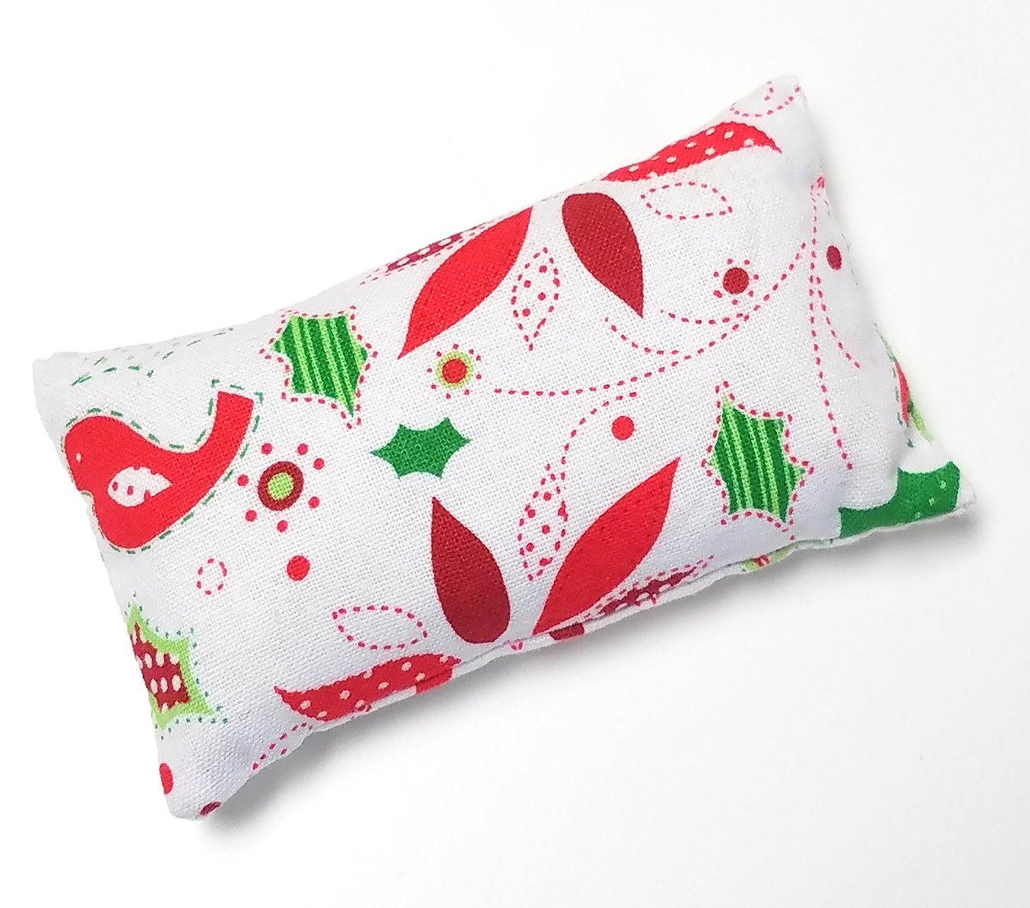 Keep your needles clean and sharp Nakpunar Red Snowflakes Emery Pincushion Filled with Abrasive Emery Mineral