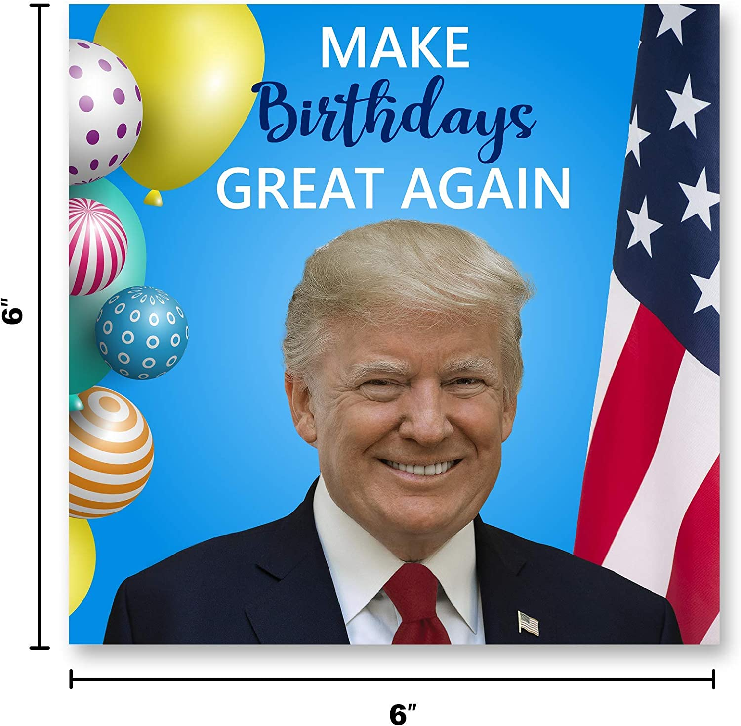 President Trump Birthday Card