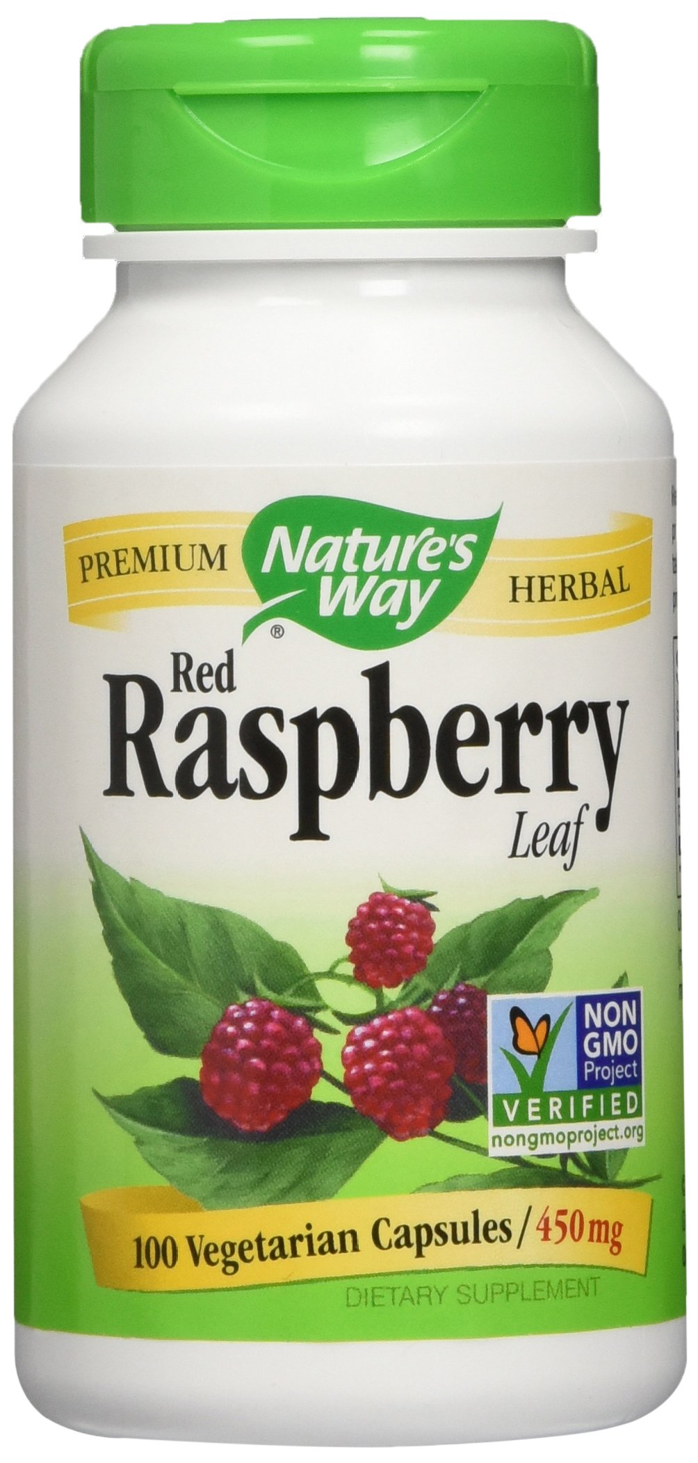 Nature's Way - Red Raspberry Leaves, 450 mg, 100 capsules