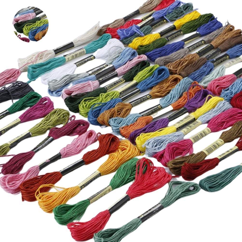 SUPVOX 25 Rollos de hilo de bordar hilos de punto de cruz cord/ón de cuerda de bordar