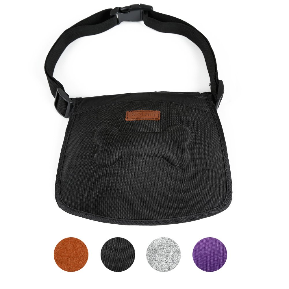 HongYH Dog Treat Training Pouch with Magnet Easily Carries Pet Toys Kibble Built-In Poop Bag Dispenser 4 Color To Choose