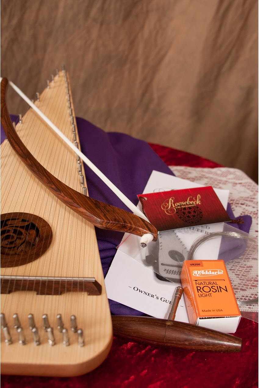 Package includes Psaltery Bow, Tuning Tool and Natural Rosin