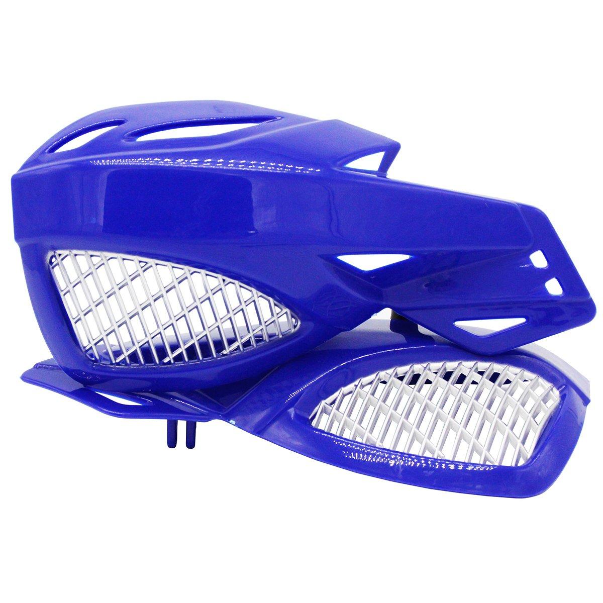 Lozom 7/8'' Motorcycle Handguards Handlebar Hand Guards Brush Bar Protector For Motocross Supermoto Racing Dirt Bike ATV (Blue)