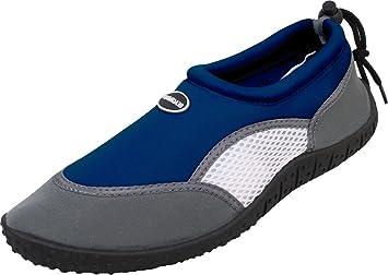 AMRUM Aquaschuhe (41-46 Herren Wasserschuhe Gummi Profilsohle Neopren Strand Kayak Schnorcheln Urlaub), Farbe:grau;Größe:43 / UK 9 Bockstiegel