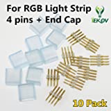 10pack of 4PINS and END CAP for IEKOV High Voltage RGB Light Strip
