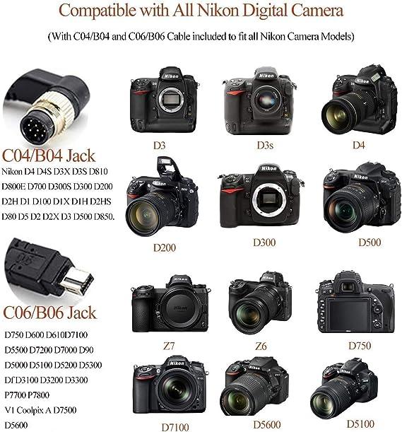 Bindpo Camera Shutter Release Trigger Timer Remote Control for Nikon D850 D810 D800 D700 D500 D5 D4 D4S D300 D3 D3X D2 D2H D2X D200 D100 D1 D1X F100 F90