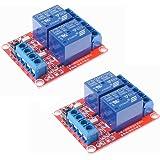 HiLetgo® 2個セット 12V 2チャンネル リレー モジュール 光絶縁サポート高低レベル トリガー [並行輸入品]