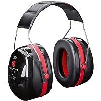 3M Peltor Optime III Kapselgehörschutz schwarz-rot | Größenverstellbare Ohrenschützer mit Doppelschalentechnologie für max. Dämpfung | SNR 35 Hörschutz auch bei sehr hohen Lautstärken
