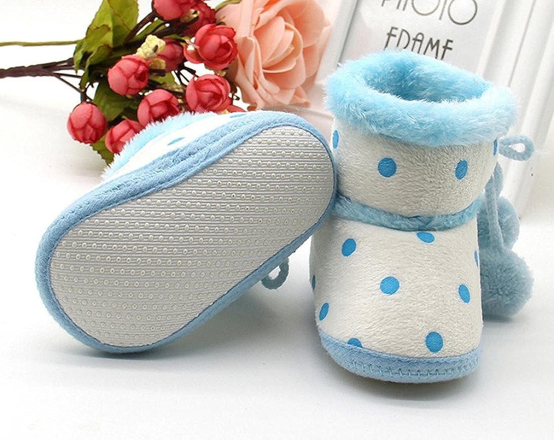 Celendi Girls Boys Prewalker Furry Booties Kid Snow Boots Toddler Warming Shoes