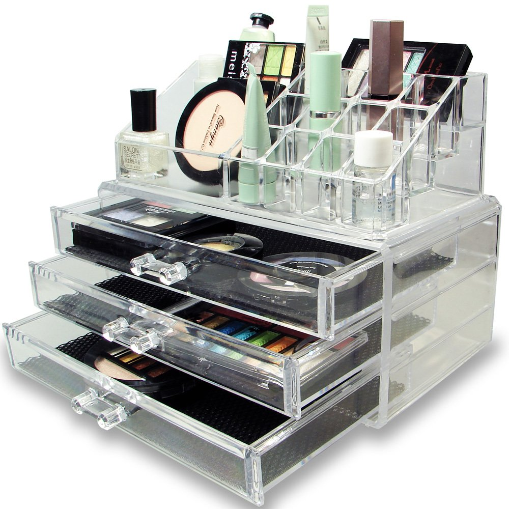 Ikee Design Acrylic Jewelry Cosmetic Storage Display Boxes Two