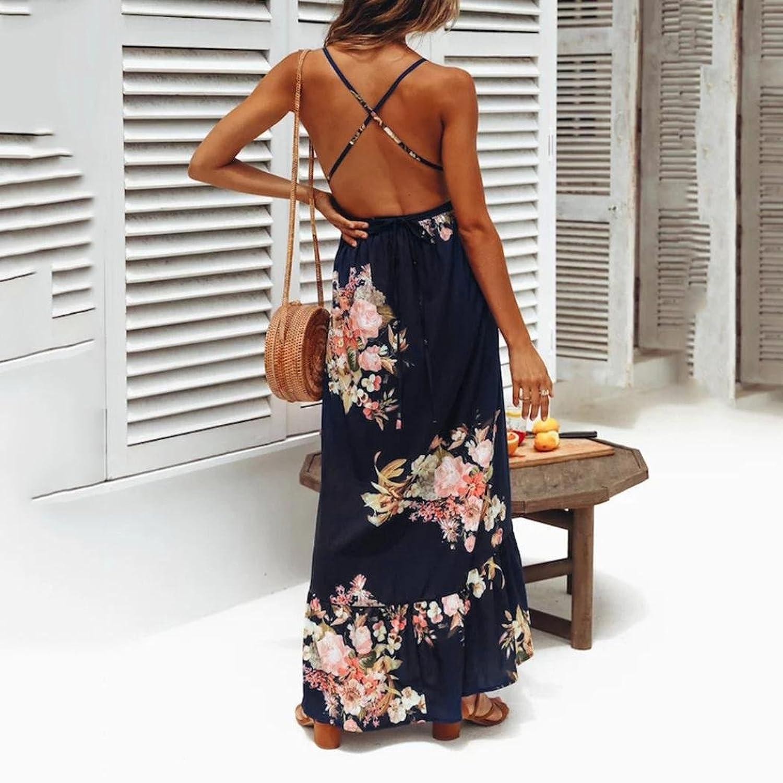 Keepwin Vestido De Mujer Falda Vestido Elegante De Noche para Boda Vacaciones Largo Vestido De Coctel del Partido De Boho De Verano Vestido De Playa De Las ...