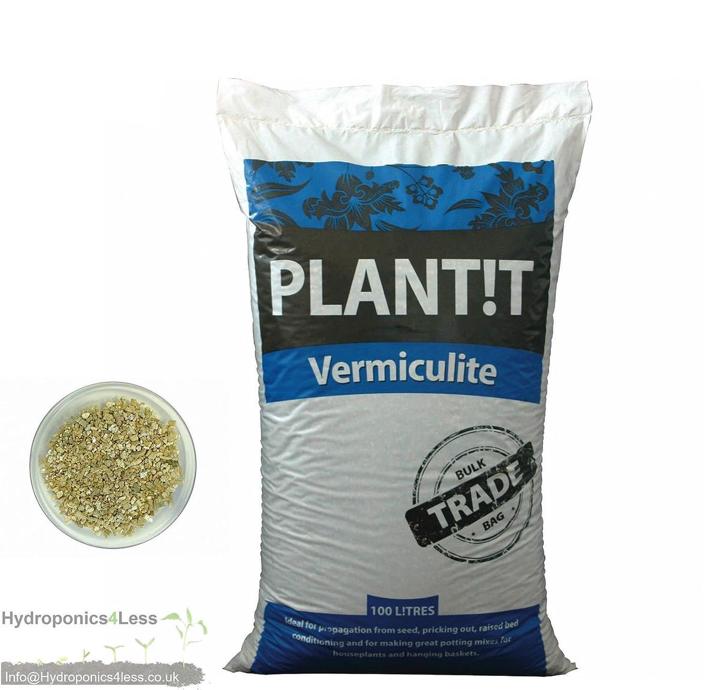 PLANT!T Vermiculite-Wachstumsmedium für Hydrokulturen-Blumentopf, 100/50/25/10/5 Liter, 5 Liters hydroponics4less