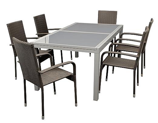 gartenmoebel-einkauf Alba Mobiliario de jardín II 7 piezas, sillón ...