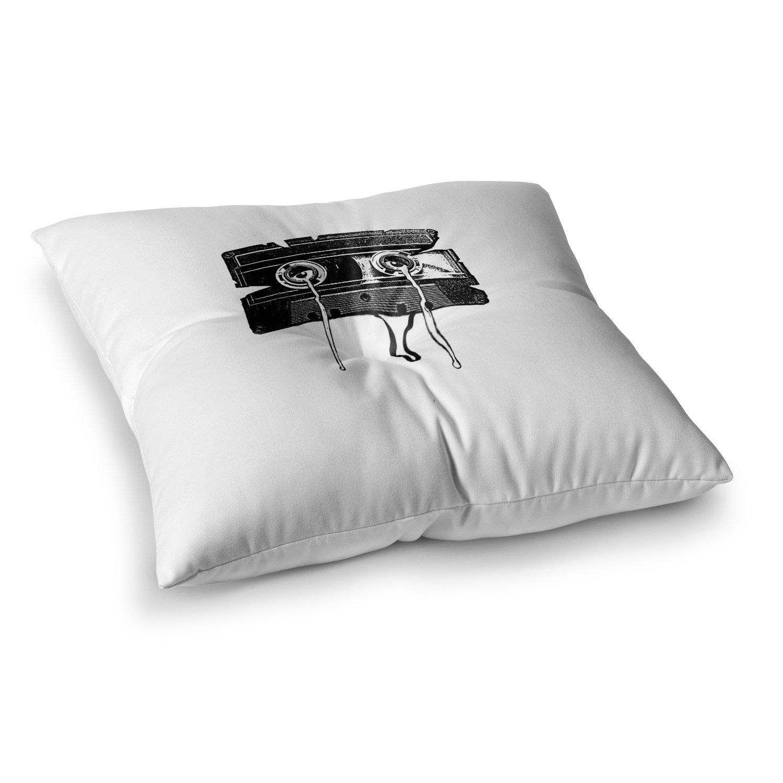 Kess InHouse BarmalisiRTB Black Music Turquoise Bed Runner