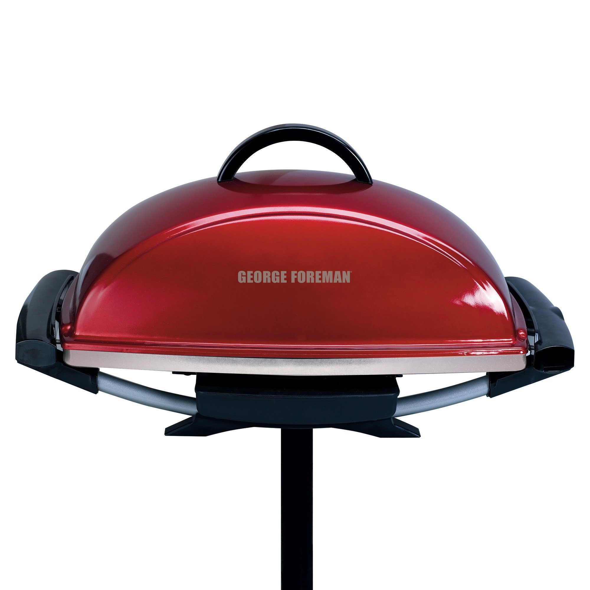 George Foreman GFO201RX Indoor/Outdoor Electric Grill, Red