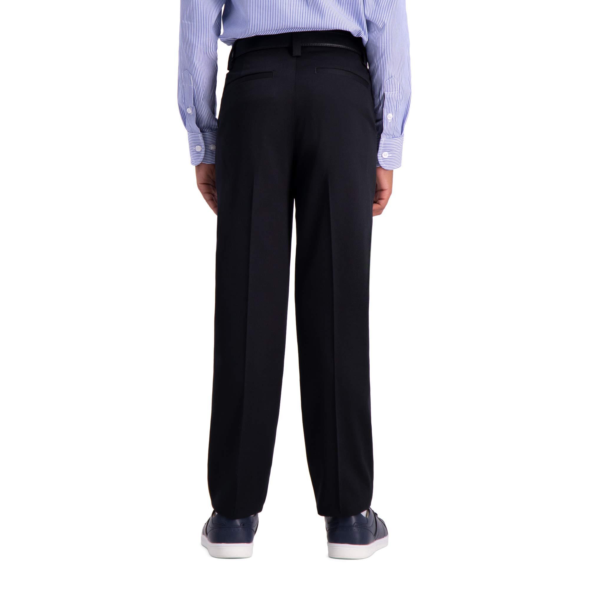 Haggar Big Boy's Youth Slim 8-20 Premium No Iron Khaki Pant, Black, 8 SLM by Haggar (Image #3)