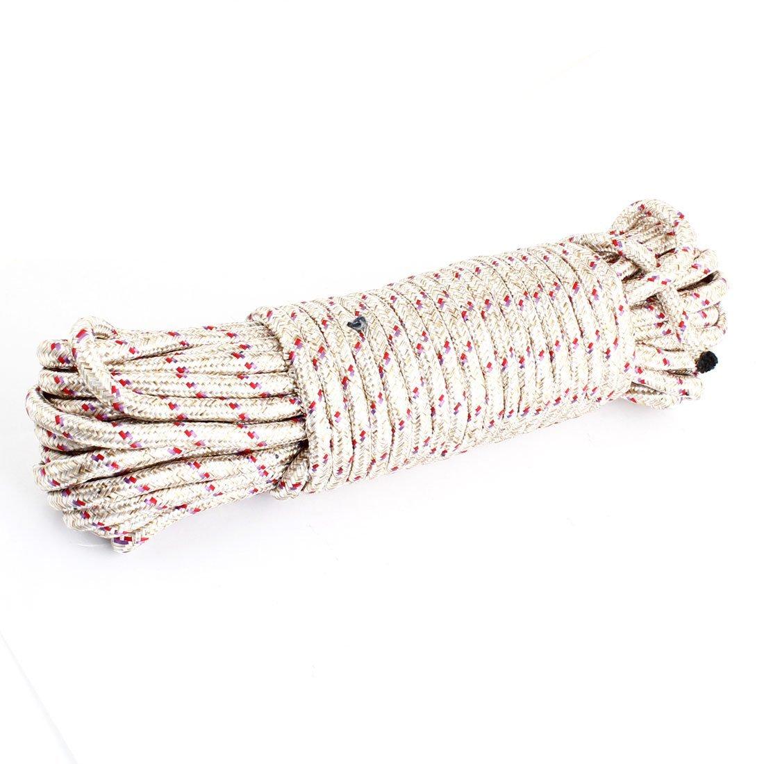 Nylon Wäscheleine Kleidung Seil-Schnur-20M 65.6Ft Länge Beige DealMux