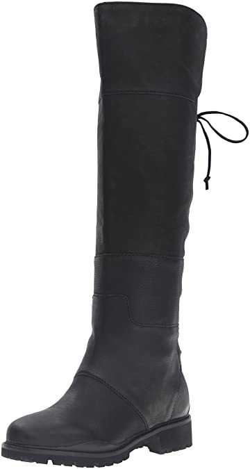 Nine West Women's Mavira Leather Knee-High Boot, Black, ...