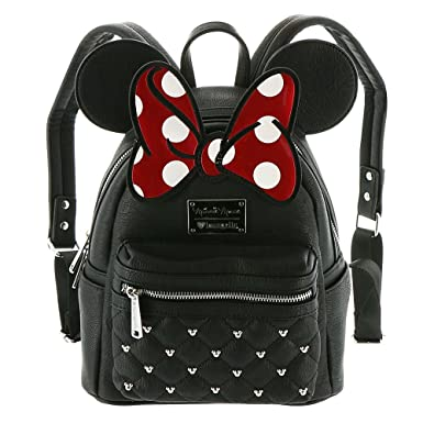 af88a06ef90 Loungefly Disney Minnie Mouse Bow Mini Faux Leather Backpack WDBK0208