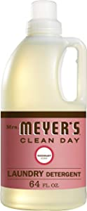 Mrs. Meyer's Clean Day Liquid Laundry Detergent, Cruelty Free and Biodegradable Formula, Rosemary Scent, 64 oz