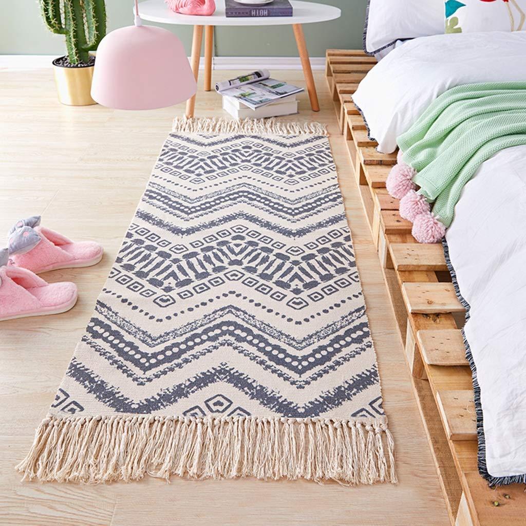 LIUXIN 家庭用寝室のベッドサイドエスニック風ストリップ織りカーペット - マルチサイズマルチパターンオプション カーペット (パターン : B, サイズ さいず : 90cm×150cm) B07RGDGX72  90cm×150cm