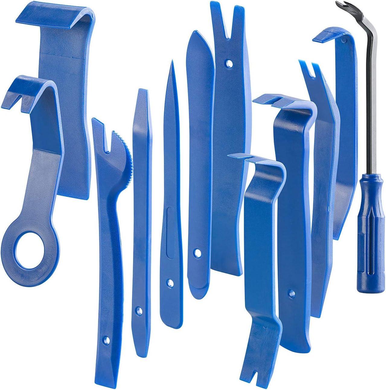 Agt Demontagewerkzeug 12 Teiliges Zierleistenkeile Set Für Auto Möbel Und Renovierung Demontage Werkzeug Auto Auto