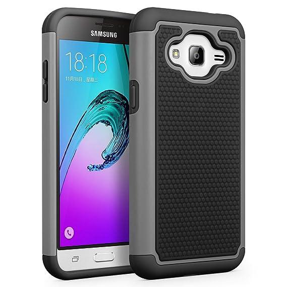 Galaxy J3 / J3 V Case, Galaxy Sky Case, Galaxy Express Prime Case, Galaxy  Sol, Amp Prime Case  SYONER [Shockproof] Defender Phone Case Cover for