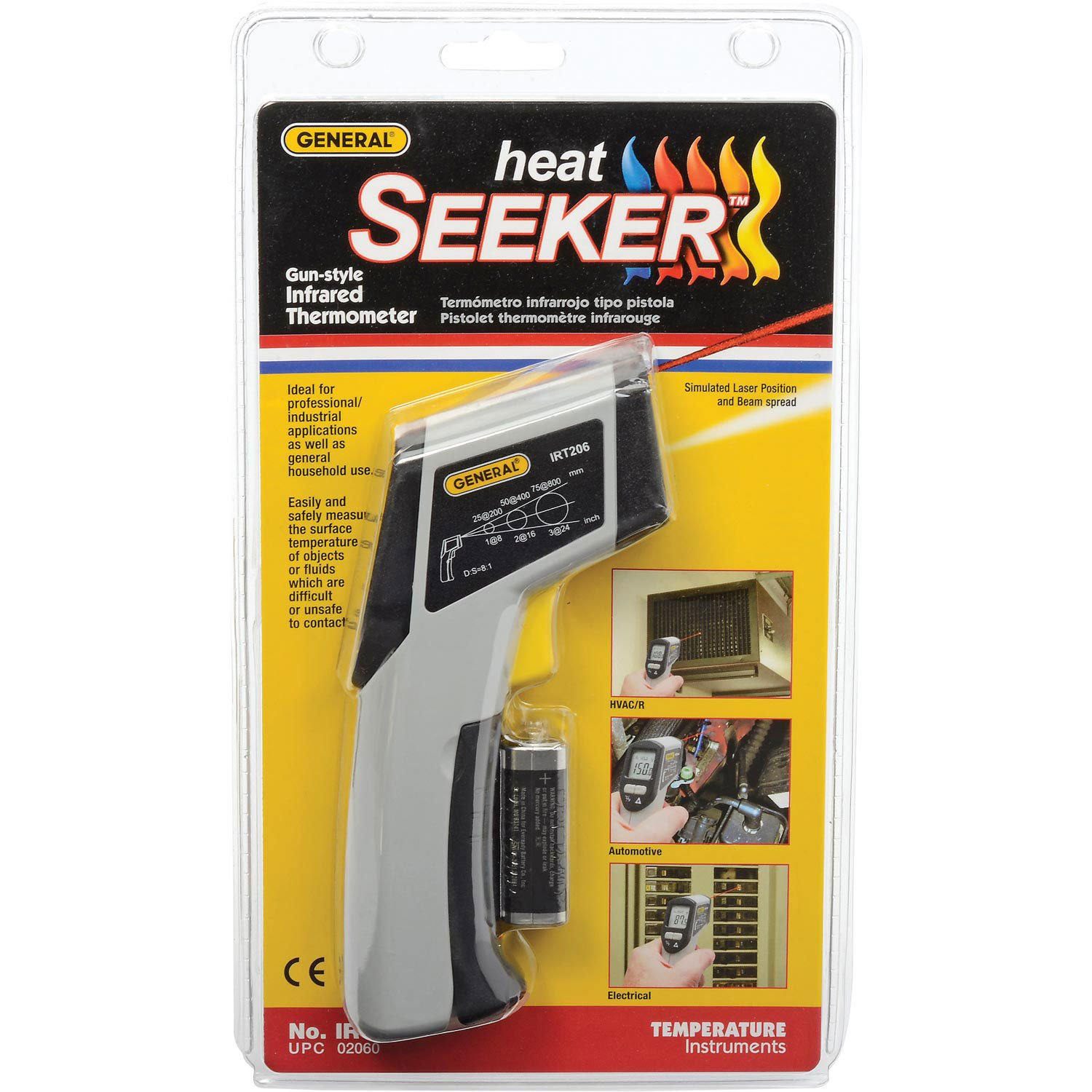 General Tools IRT206 Heat Seeker Infrared Thermometer44; -4F To 604 F