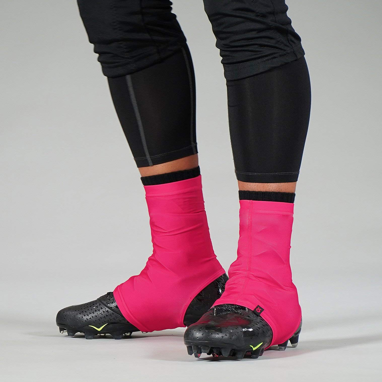 Hot Pink Ribbon Spats/Cleat Covers by SLEEFS