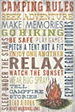 Camping Rules - Barnwood Painting (9x12 Collectible Art Print, Wall Decor Travel Poster)