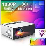 "Artlii Enjoy 3 Portable Native 1080P 5G WiFi Bluetooth Projector, 9000L & 300"" Display, Movie Projector Support Zoom & Keysto"