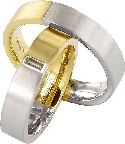 JC confíes anillos 2 corazones Collection 585 eheringe 14 quilates amarillo - & oro blanco J116