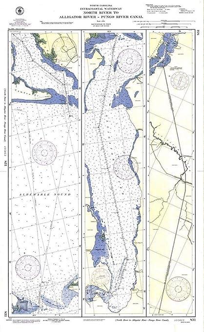 Amazon.com: Vintography Reprinted 8 x 12 Nautical Map of ...