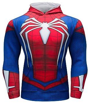 Cody Lundin Sudadera con Capucha para Hombre Logo de Spider Hero Deportiva Manga Larga Hoodie Sudadera de Hombre: Amazon.es: Deportes y aire libre