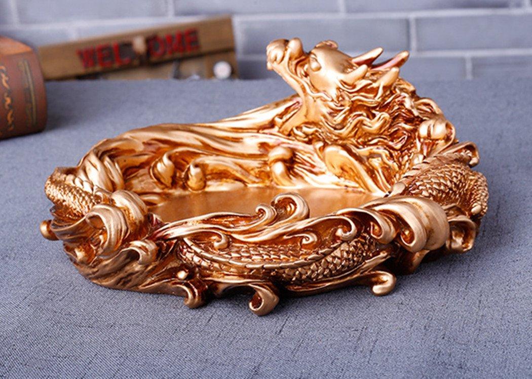 COOL Dragon Cendrier cendriers Collections pour d/écoration de la maison mignon cadeaux de No/ël Dor/é