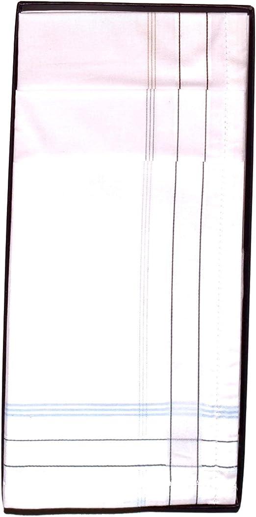 GUASCH 6 Pañuelos de Caballero de la Marca 100% Algodón blancos ...