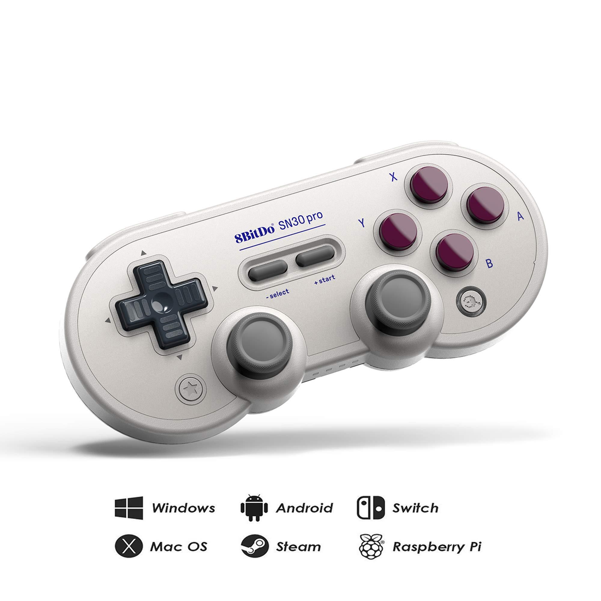 RunSnail 8Bitdo Sn30 Pro Bluetooth Gamepad (G Classic Edition) with Joysticks Rumble Vibration Gamepad for Windows, Mac OS, Android, Steam, Nintendo Switch, etc