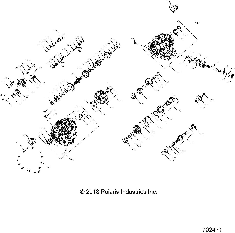 Polaris 2012-2020 Rzr Ranger Shaft Reverse 27T 3235380 New Oem