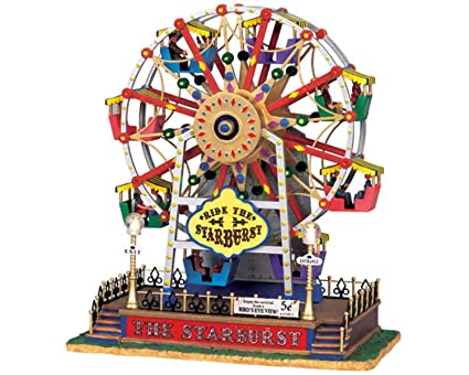 lemax the starburst ferris wheel christmas village by lemax