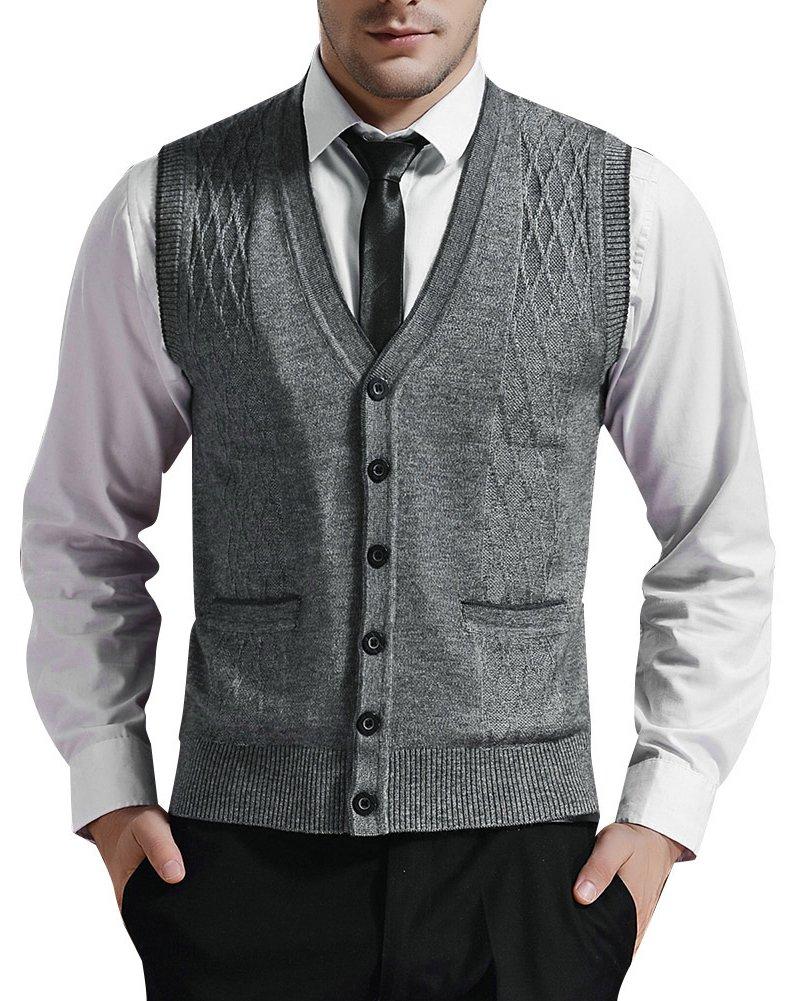Zicac Mens Casual Inclined Zipper Slim Hoodie Jacket Coat