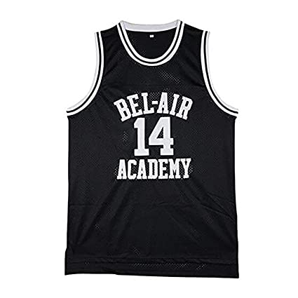 13d70a855 The Fresh Prince of Bel Air Basketball Jersey  14 Will Smith Academy Jersey  (Black