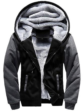 cheap for discount f0e0c 0cfc0 YYZYY Herren Winter Dicke Warm mit Kapuze Mantel Kapuzenpullover Kapuzen  Sweatshirt Hoodies Jacken Hooded Winterjacke Streetwear