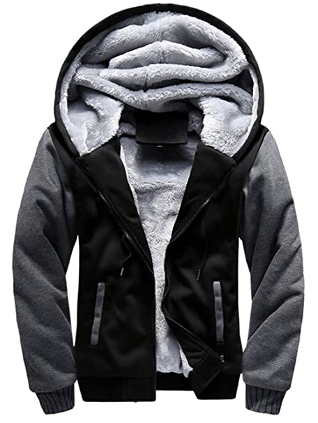 YYZYY Herren Winter Dicke Warm mit Kapuze Mantel Kapuzenpullover Kapuzen Sweatshirt Hoodies Jacken Hooded Winterjacke Streetwear